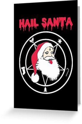 Heavy Metal Christmas Sweater 2020 HAIL SANTA!' Greeting Card by ToruandMidori in 2020 | Heavy metal