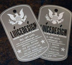 Dog Tag Shaped Cut Business Cards Graphic Design Pinterest And