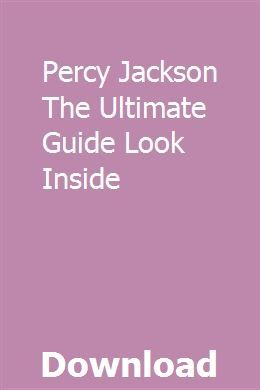 Percy Jackson The Ultimate Guide Look Inside Common Core Math Kindergarten User Guide Study Guide