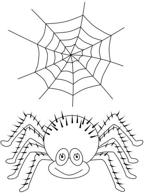 halloween spinne und spinnennetz zum ausmalen