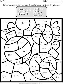 Christmas Color By Number Multiplication And Division Christmas Color By Number Math Coloring Christmas Colors