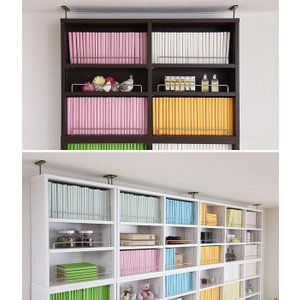 本棚 ブックシェルフ スリム 1cmピッチ 薄型 オープン用 上置き棚 幅