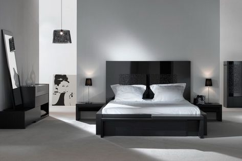 Decoration Chambre A Coucher Noir Et Blanc 1 Avec Images