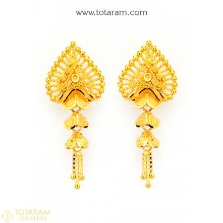 a1dbabea9 22K Gold Drop Earrings for Women - 235-GER8862 - Buy this Latest Indian  Gold Jewelry Design in 5.850 Grams for a low price of $358.15