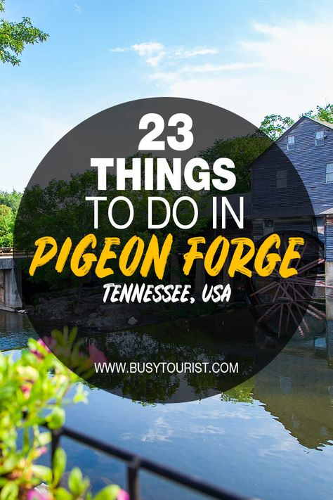 Planning a trip to Pigeon Forge, TN and wondering what to do there? This travel guide will show you the top attractions, best activities, places to visit & fun things to do in Pigeon Forge, Tennessee! Start planning your itinerary & bucket list now! #pigeonforge #tennessee #tennesseetravel #tennesseevacation #usatravel #usatrip #usaroadtrip #travelusa #ustravel #ustraveldestinations #americatravel #travelamerica #vacationusa Pigeon Forge Tennessee, Gatlinburg Tennessee, Tennessee Vacation, Attractions In Tennessee, Pigeon Forge Attractions, Gatlinburg Vacation, Us Travel Destinations, Road Trip Usa, Usa Trip