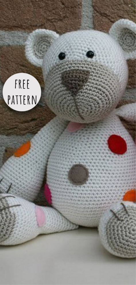 Free Amigurumi Teddy Bear Crochet Patterns (With images) | Crochet ... | 994x474
