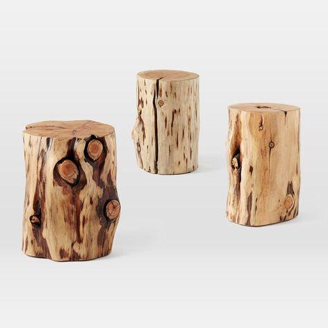 Natural Tree Stump Side Table | Tree Stump Side Table, Tree Stump And Wood  Stumps