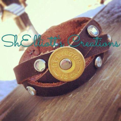 12 Gauge Shotgun Shell Leather Wrap by ShElliottsCreations on Etsy