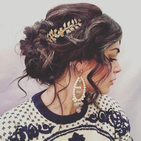 Greek Goddess hair style ❤️ #hair #hairstyle #gold