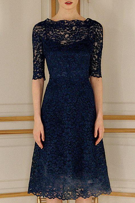 Navy lace, for your holiday parties and beyond!