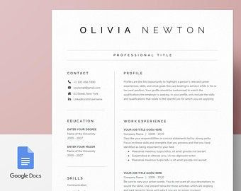 Resume Template Resume Template Word Resume With Photo Etsy Resume Template Word Resume Template Professional Resume Template