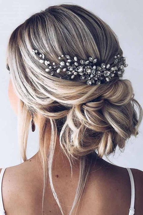 Stunning Wedding Hairstyles For The Elegant Bride - Page 3 of 50 - SooPushHairstyle, wedding hairstyle, wedding, elegant hairstyle.Gorgeous wedding hairstyles for the elegant bride - bride elegant high . Elegant Hairstyles, Formal Hairstyles, Gorgeous Hairstyles, Hairstyles Haircuts, Hairstyles For Brides, Bridal Updo Hairstyles, Casual Wedding Hairstyles, Medium Length Wedding Hairstyles, Prom Hairstyles All Down