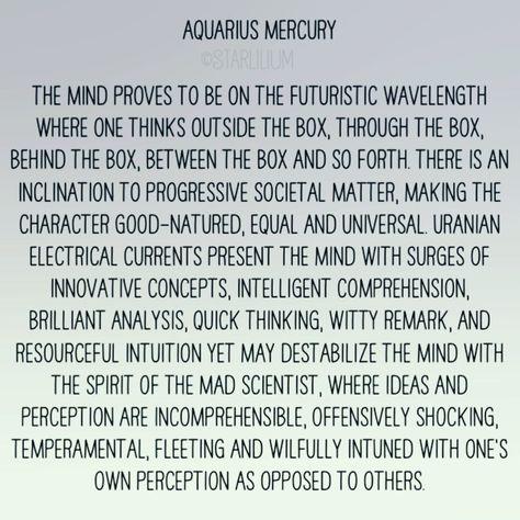 Reposting from #starlilium #aquarius #mercury #aquariusmercury #mercuryinaquarius #astrology #badastrology #starsigns #zodiac #zodiacsigns