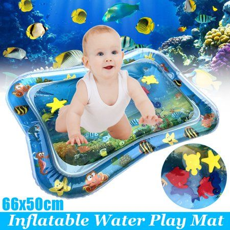 kids Inflatable Tummy Time Premium Water mat Infants /& Toddlers Play Center Pat