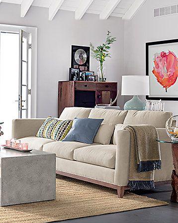 Taraval 3 Seat Sofa | Crate And Barrel | Living Rooms | Pinterest | Crates,  Barrels And Living Rooms