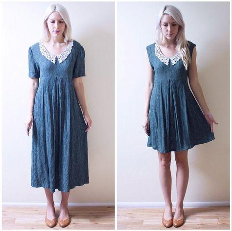 Refashion Co-op: 2 Simple Dress Re-fashions: