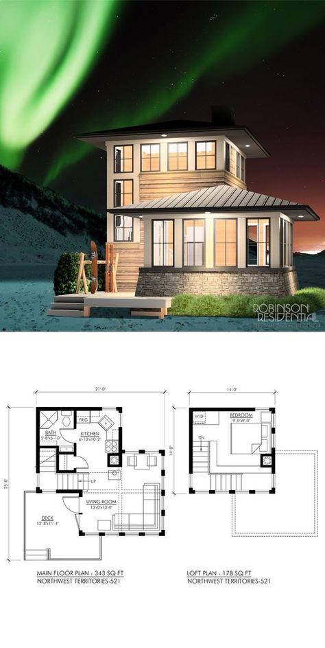 , 1 bedroom, 1 bath u form Northwest - Robinson Plans