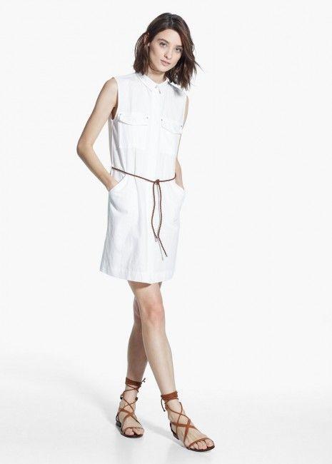 Beyaz Renk Gomlek Keten Elbise Modeli Kadinlive Com Moda Stilleri Elbise Modelleri Gunduz Elbiseleri