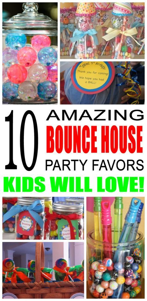 Fun Bounce House Party Favor Ideas For Kids And Teens Try These Simple Diy Bounce House P Bounce House Party Favors Bounce House Parties Bounce House Birthday