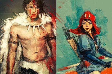 Gender swapped Princess Mononoke