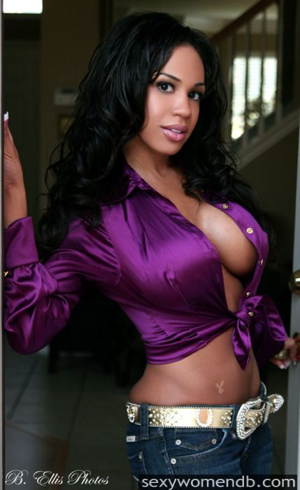 Hot Babe in Purple