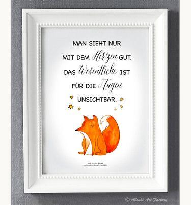 Kunstdruck A4 Kleiner Prinz I Der Kleine Prinz Der Kleine