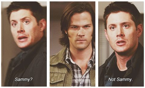 Only took one look... Just watched this episode and I giggled at Dean's realization that it wasn't Sam.