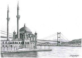 Ortakoy Camii Cizimi Ile Ilgili Gorsel Sonucu Architekturzeichnung Naturbilder Bilder