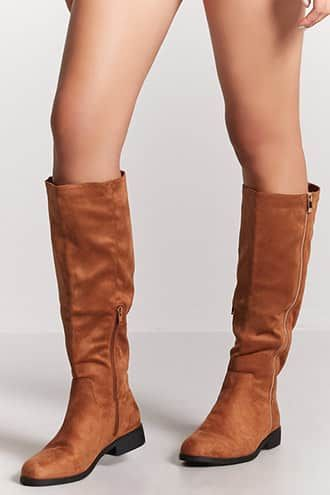 Faux Suede Tall Boots | Boots, Fashion
