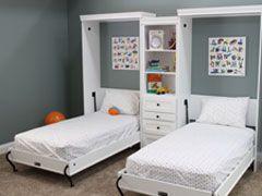 Two Twin Murphy Beds Idees De Lit Plans De Lit Escamotable Lit