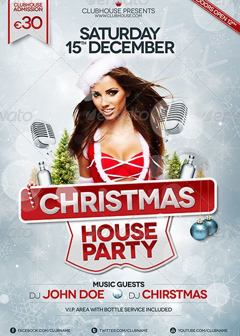Celebrations - Christmas Flyer Template by Rod (via Creattica - christmas flyer template