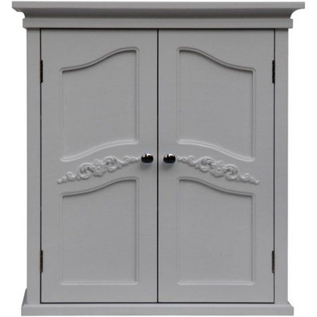 Elegant Home Fashions Somerset Wall Cabinet, White