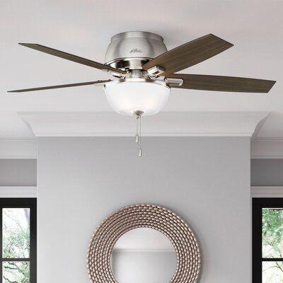 Hunter Fan 52 Donegan 5 Blade Flush Mount Ceiling Fan With Pull