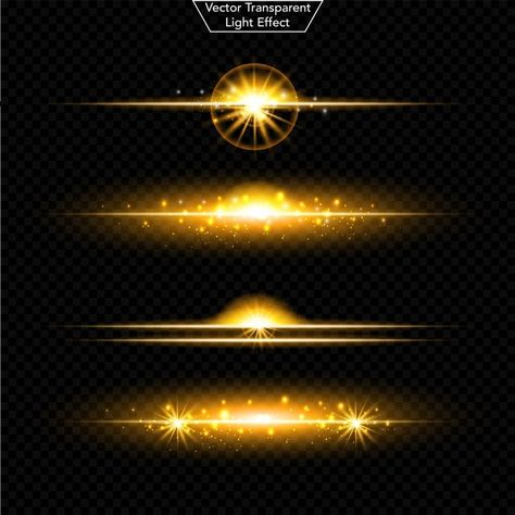 Set Of Glowing Light Effect Realistic Lens And Sparkles Light Isolated On Black Transparent Background Burst With Sparkles Vector Illustration Bright Light Transparent Background Vector Illustration Glowing Background