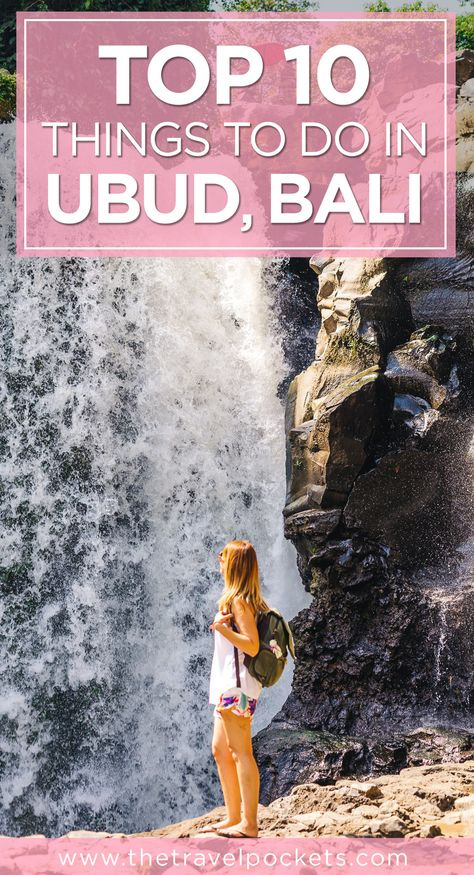 Top 10 Things To Do in Ubud, Bali, Indonesia - Mount Batur, Bali Swing, Sacred Monkey Forest and more! #Bali #Ubud #Indonesia #monkeys #hiking