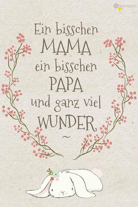 #Baby #Glückwünsche #Karte #Geburt #Sprüche  Die Geburt eines Kindes ist ein ganz besonderer Moment im Leben ♥ Auf ROOMBEEZ findet Ihr 10 Glückwunschkarten zur Inspiration oder zum Ausdrucken!