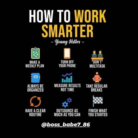 """Boss Babe🚀🎯 (@boss_babe7_86) added a photo to their Instagram account: """"How to work smarter🚀🚀💰💰 . . . . #follow #f4f #followme #TFLers #followforfollow #follow4follow…"""""""
