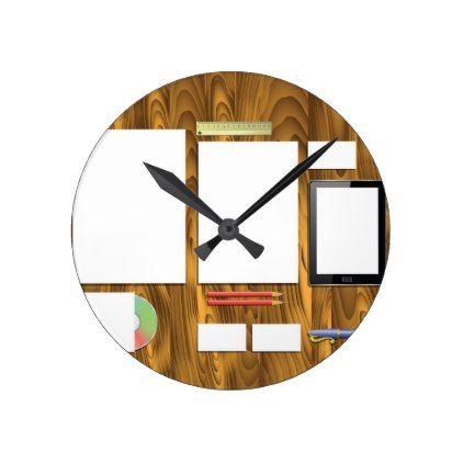 Office Desk Round Clock Office Decor Custom Cyo Diy Creative Clock Office Clock Wall Clock