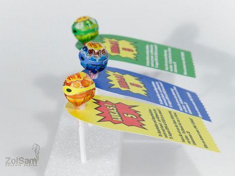 Einladungskarte Lolli Superheld Einladung Kindergeburtstag