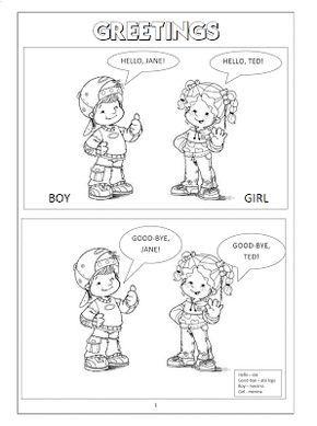 Atividades De Ingles Greetings Boy Girl Con Imagenes Ingles