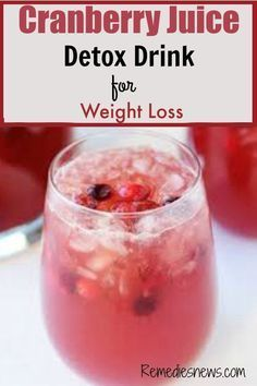Cranberry Juice and Apple Cider Vinegar Detox Drink for Weight Loss #Lowcarbforweightloss