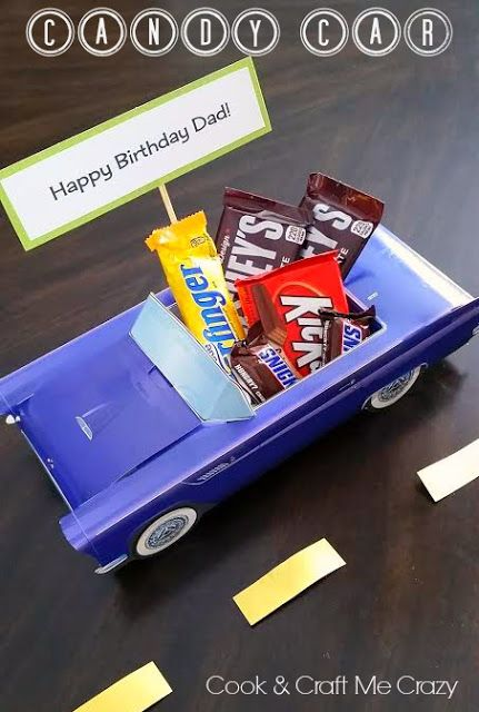 Candy Cars For Husbands And Dads So Fun For Any Occasion Candy Car Candy Happy Birthday Dad