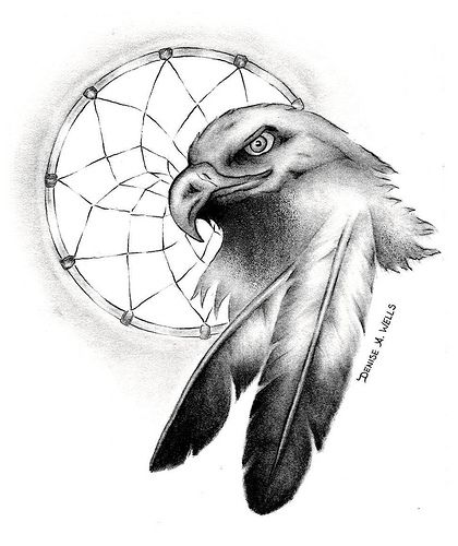 Eagle Feather Dream Catcher Dream Catcher Spirit Eagle Native American Prints 8