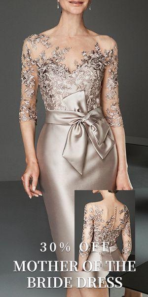 Mother Of The Bride Dress Elegant Plus Size See Through Bateau Neck Knee Length Velvet Dress Designs Mother Of The Bride Gown Mother Of The Bride Dresses