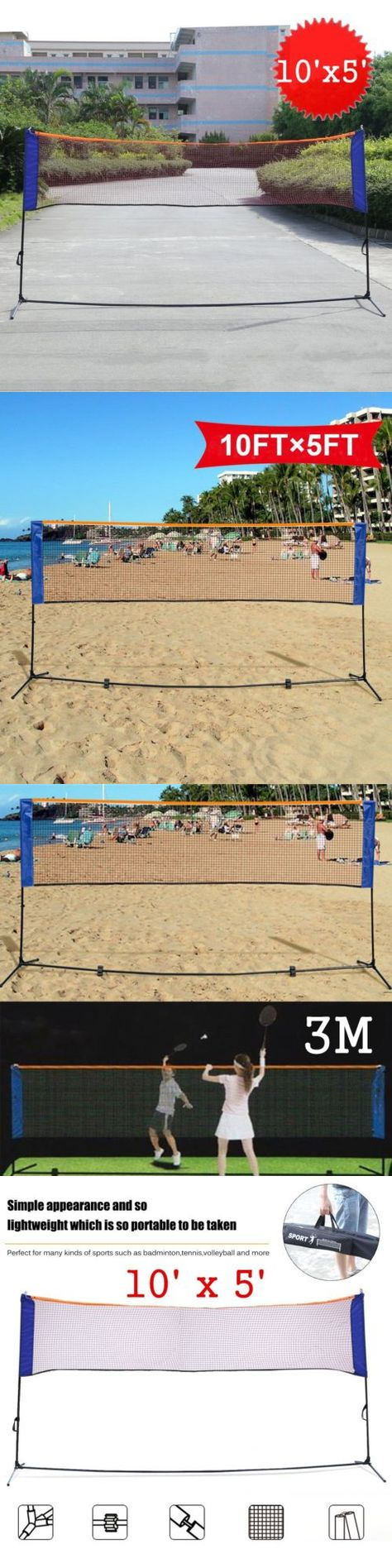 badminton 106460 portable 3 in 1training beach volleyball