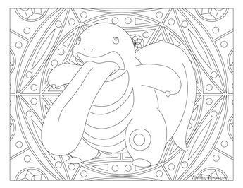 108 Lickitung Pokemon Coloring Page With Images Pokemon