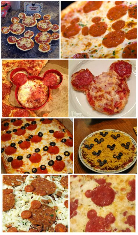 Mickey Mouse Halloween Party without pizza?  Oh, the HORROR!  The internet is full of Mickey Mouse pizza ideas, from forming the Mickey icon with pepperoni, to using a Mickey cookie cutter or even forming the dough in the shape of Mickey.  No real trick, just a cheesy treat!