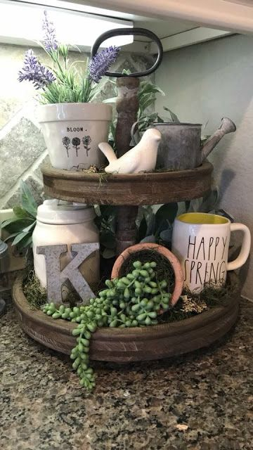 If you are looking for Spring Kitchen Decor Ideas, You come to the right place. Below are the Spring Kitchen Decor Ideas. This post about Spring Kitchen Decor Ideas was posted under the Kitchen catego. Spring Kitchen Decor, Spring Home Decor, Tray Decor, Decoration Table, Centerpiece Ideas, Country Farmhouse Decor, Rustic Decor, Farmhouse Ideas, Farmhouse Style