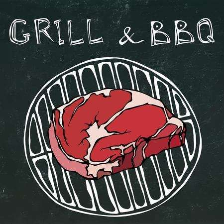 Rib Eye Steak On The Grill For Barbecue Lettering Grill And How To Grill Steak Scrapbook Recipe Book Ribeye Steak