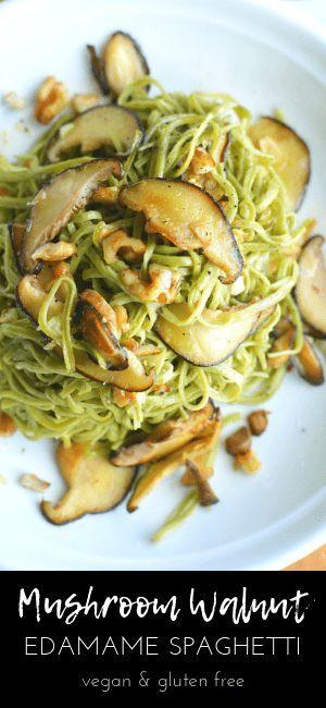 Edamame Pasta With Mushrooms And Walnuts Recipe Edamame Pasta